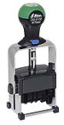 HM-6100/2 Heavy Metal Custom Self-Inking Date Stamp<BR><Font Color=Red>w/Two Color Blue/Red Ink Pad