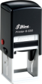 "Shiny S-530 Self-Inking Stamp<BR>Impression Area: 1-1/4"" x 1-1/4"""