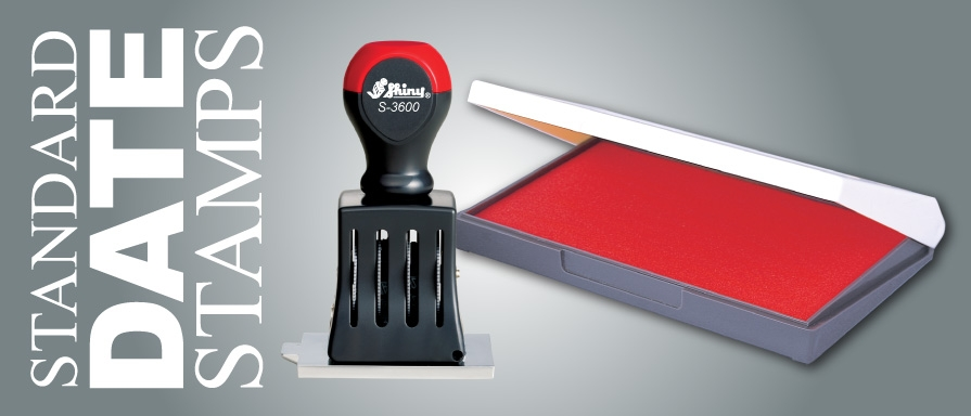 Customize and Order Manual Rubber Date Stamps. A separate stamp pad is required.