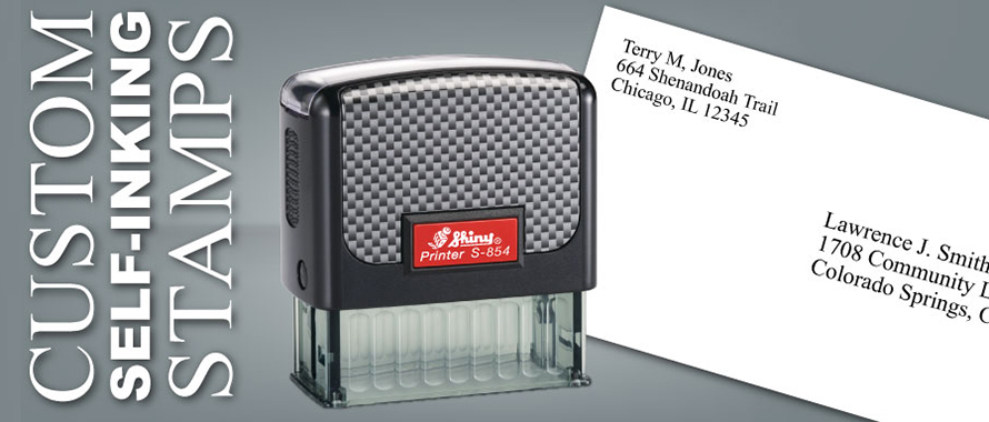 Create, Preview and Order Self-inking Custom Rubber Stamps.